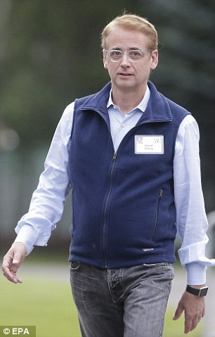 David Kenny, CEO of the Weather Channel, strode over in a fleece