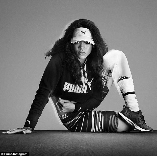 'Proud to be on the team!  #ForeverFaster!'So it's fitting that the eight-time Grammy winner just partnered with Puma to promote the German brand's Pulse XT cross-trainer