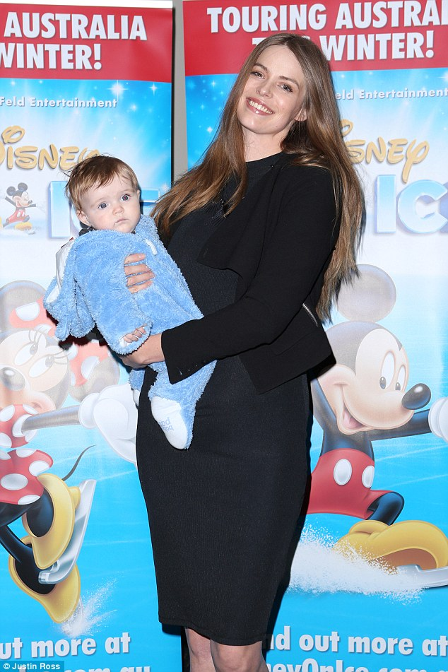 Doting mama! Robyn Lawley proved she's taken to motherhood like duck to water when she rocked up at Disney On Ice's Dare to Dream in Sydney on Wednesday with her little one in tow