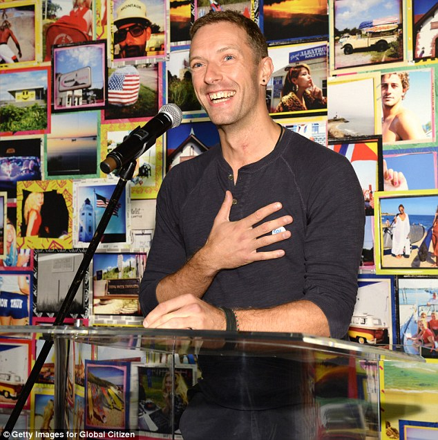 More stars: Coldplay rocker Chris Martin was another famous face at Wednesday's event