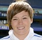 Chelsea FC via Press Association Images MINIMUM FEE 40GBP PER IMAGE - CONTACT PRESS ASSOCIATION IMAGES FOR FURTHER INFORMATION. Fran Kirby poses during her unveiling as a new player for Chelsea ladies