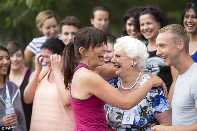Hi there! Davina was all-smiles as she met with 74-year-old fan Clare Johnston at the event