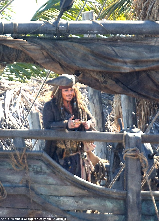 Captain Jack Sparrow: Johnny has been filming Pirates Of The Caribbean on the Gold Coast