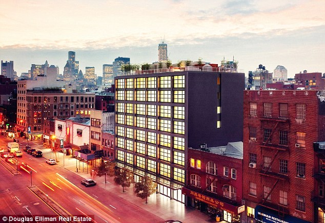 Nice kerb appeal: The loft is at 250 Bowery in Soho is in an eight-story building with a 24-hour doorman