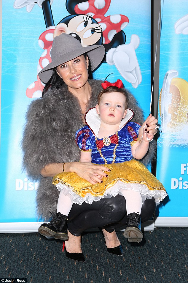 Family day out! Other celebrities to grace the Dare to Dream premiere included the likes of shoe designer Terry Biviano, who turned up with her 19-month-old daughter Azura