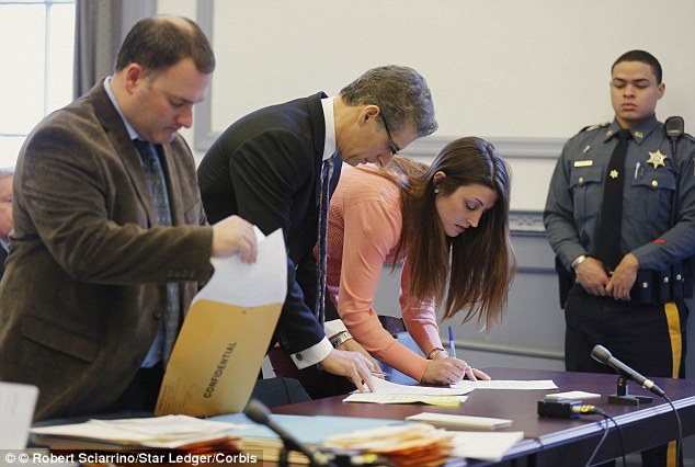 Strings attached:If McDonough, pictured in court in January, is allowed to enter the PTI, she may have to undergo random urine testing, pay restitution, and submit to psychological, drug and alcohol evaluations
