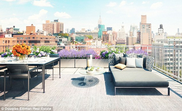 Top of the world: The gorgeous roof garden provides a space to rest and relax