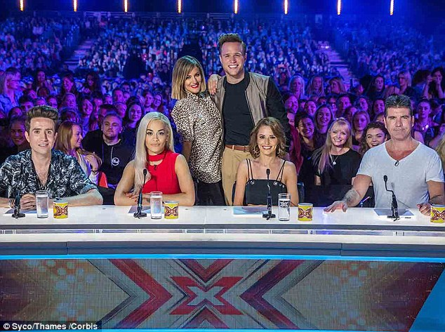 Have they got the X Factor? Rita Ora (second left) and Nick Grimshaw (left) join the panel with Simon Cowell (right) and Cheryl Fernandez-Versini (second right), as well as new presenters Caroline Flack and Olly Murs