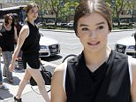 U.S actress/model Hailee Steinfeld is seen walking out of a radio station in Downtown Manhattan, New York, 10 July 2015.\n10 July 2015.\nPlease byline: Vantagenews.co.uk