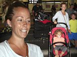 Kendra Wilkinson, Hank Baskett & their adorable children are spotted arriving into LAX amidst the back and forth with the former Playboy Model & Holly Madison. \n\nRef: SPL1075504  090715  \nPicture by: Sharky / Splash News\n\nSplash News and Pictures\nLos Angeles: 310-821-2666\nNew York: 212-619-2666\nLondon: 870-934-2666\nphotodesk@splashnews.com\n