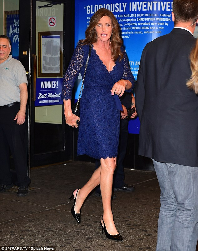 Excited: Caitlyn has made no secret of her excitement at finally being able to wear feminine clothing in public rather than having to hide