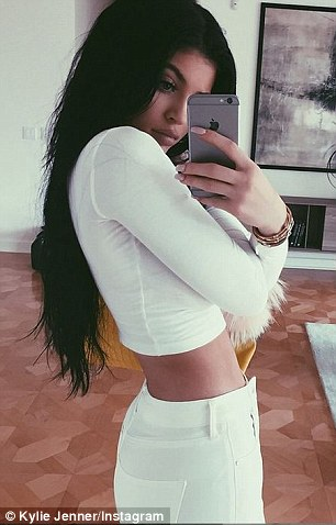 They got game: Kylie and Kim, both shown in selfies shared last week, routinely post self-portraits on social media