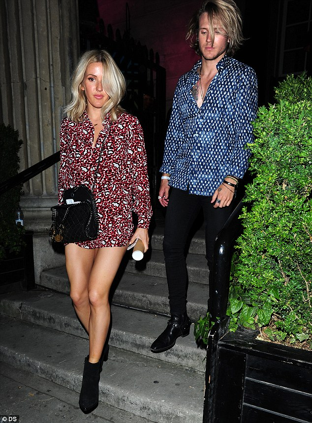 Singer Ellie Goulding, who sang at the royal wedding, was also at the event with her popstar boyfriend, Dougie Poynter, who found fame with McFly