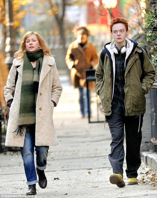 Wigging out: Elle - born Mary -will next play a transgender teen called Ray in the indie dramedy Three Generations (pictured December 4)