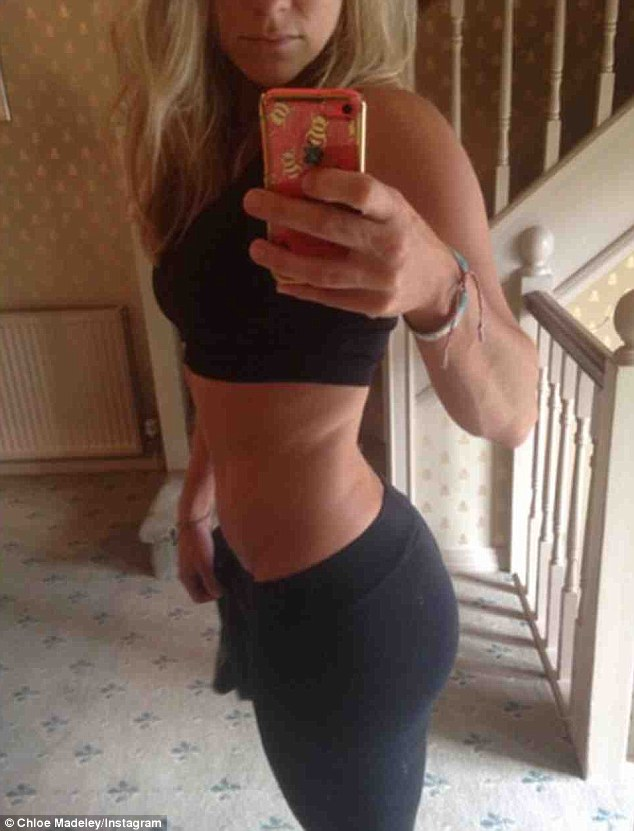 Looking good! Chloe Madeley is reaping the rewards of her relaxed workout regime, revealing she's delighted with her new, curvier figure