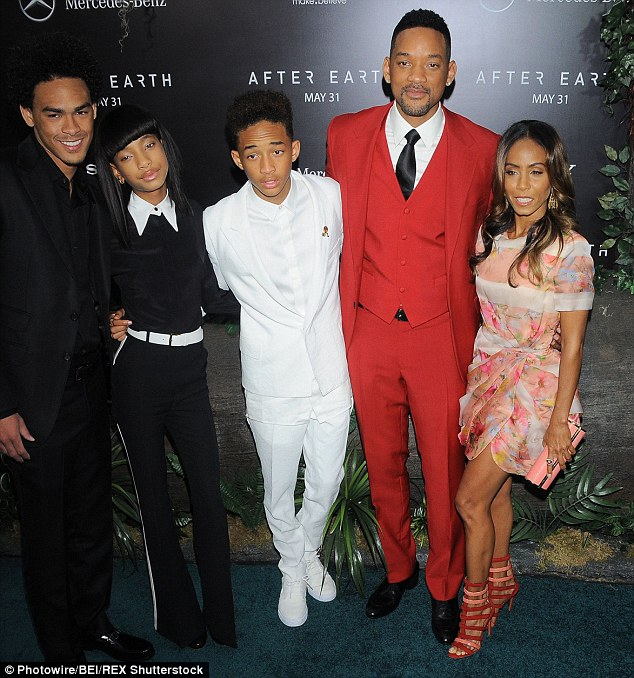 Family time: Trey Smith, Willow, Jaden, Will and Jada are shown in May 2013 in New York City