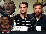 SAN DIEGO, CA - JULY 11:  Actors Henry Cavill (L) and Ben Affleck attend the Warner Bros. presentation during Comic-Con International 2015 at the San Diego Convention Center on July 11, 2015 in San Diego, California.  (Photo by Kevin Winter/Getty Images)