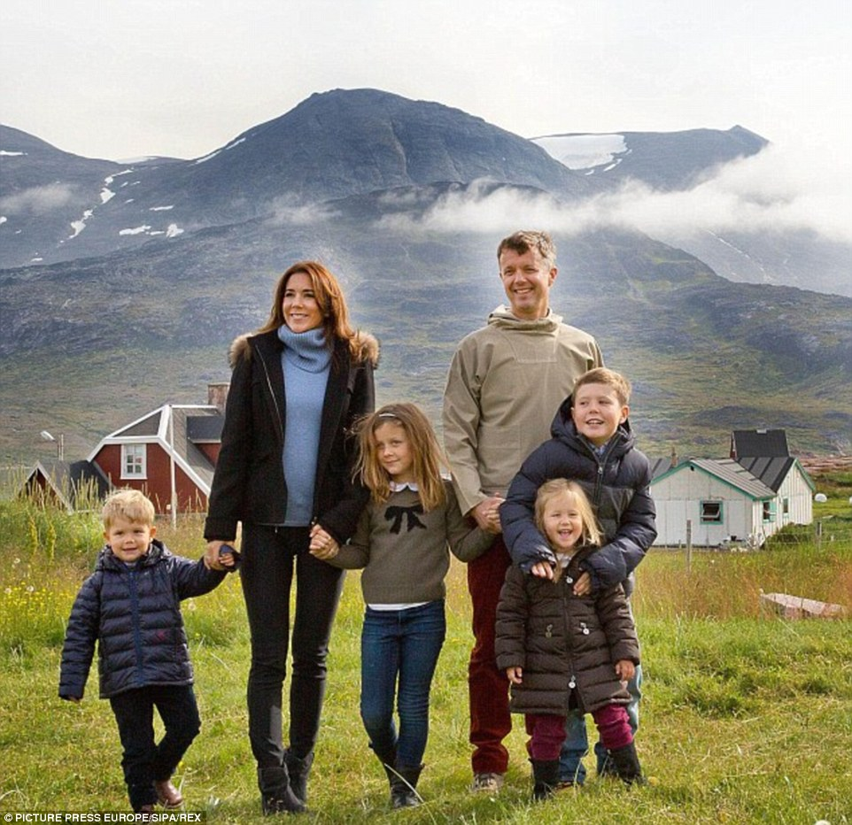 Happy famiy: Princess Mary and Prince Frederik now share four kids together, with the couple likely to become the future King and Queen