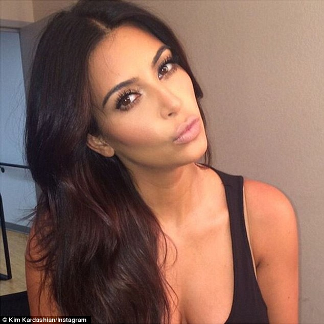 It's on: Kim Kardashian, shown in an Instagram selfie taken last week, will compete in the new Choice Selfie Taker category at the upcoming Teen Choice Awards