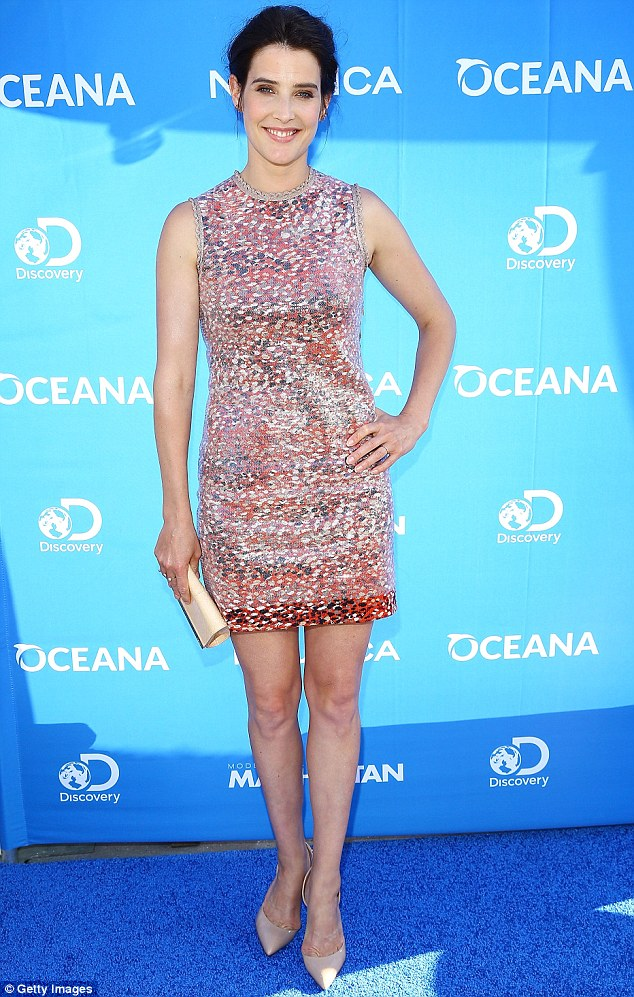 Perfect pins: Cobie Smulders showed off her legs at an event in New York on June 24. She recently discovered she had broken one, forcing her to pull out of HBO's movie, Confirmation