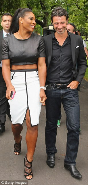 Mixed doubles: Serena willaims with Patrick Mouratoglou