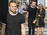 5 Seconds of Summer member Ashton Irwin and rumoured girlfriend Bryana Holly shop in West Hollywood, California. Bryana Holly is Brody Jenner's ex-girlfriend.....Pictured: Ashton Irwin, Bryana Holly..Ref: SPL1074601  080715  ..Picture by: Splash News....Splash News and Pictures..Los Angeles: 310-821-2666..New York: 212-619-2666..London: 870-934-2666..photodesk@splashnews.com..