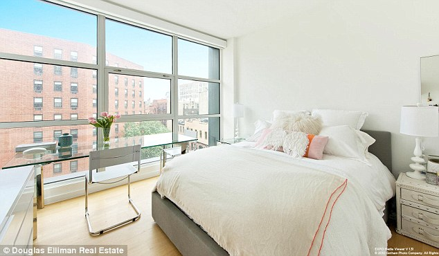 Luxury accommodation: The beautiful master bedroom has a walk-in closet for Gigi's designer clothes