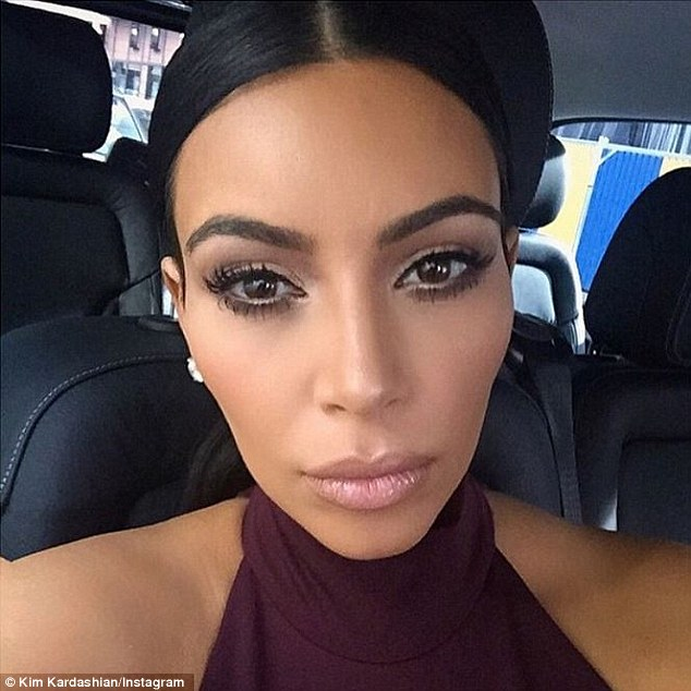 The frontrunner: Kim, shown in a selfie shared last month, has to be considered the favourite to win as she has her own book of selfies called Selfish