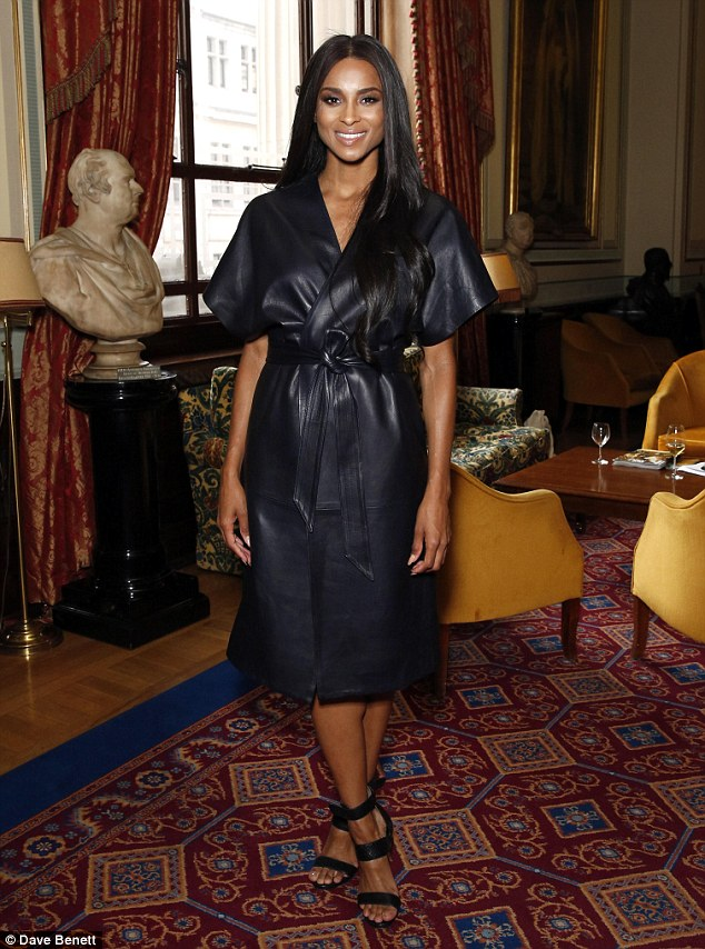 Star guest: Ciara was on hand to celebrate the future of the industry as she presented the Outstanding Alumni Merit prize at the Fashion Retail Academy's 10th Anniversary Awards  in London on Wednesday