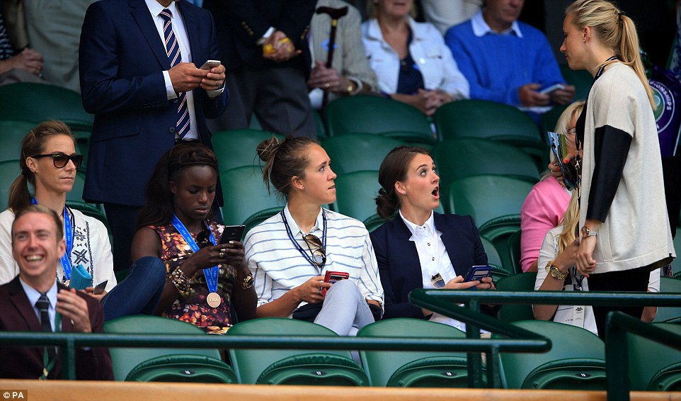 What a day: Earlier on Thursday Karen Bardsley, Aluko,  Potter and  Moore and their teammates enjoyed a breakfast with Prince William