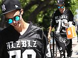 West Hollywood, CA - 'Orange is the New Black' actress, Ruby Rose, brings her gangster style to Kate Somerville Spa.  She was seen in a black graphic jersey, black harlem pants with the words 'Bad Bitches Only', black baseball cap, and black and white high top sneakers...AKM-GSI       July 10, 2015..To License These Photos, Please Contact :..Steve Ginsburg..(310) 505-8447..(323) 423-9397..steve@akmgsi.com..sales@akmgsi.com..or..Maria Buda..(917) 242-1505..mbuda@akmgsi.com..ginsburgspalyinc@gmail.com