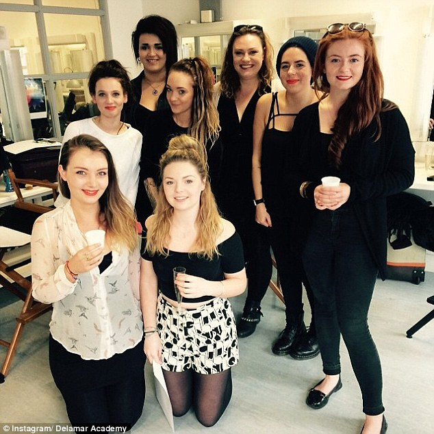 Class of 2015: 'Congratulations to our January intake of the 22 week Advanced Complete Make-up Artist course! Wishing you all the very best with your future careers!' wrote Delamar Academy. Isabella is second from right