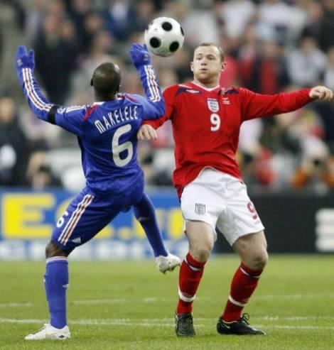 Wayne Rooney and Claude Makelele