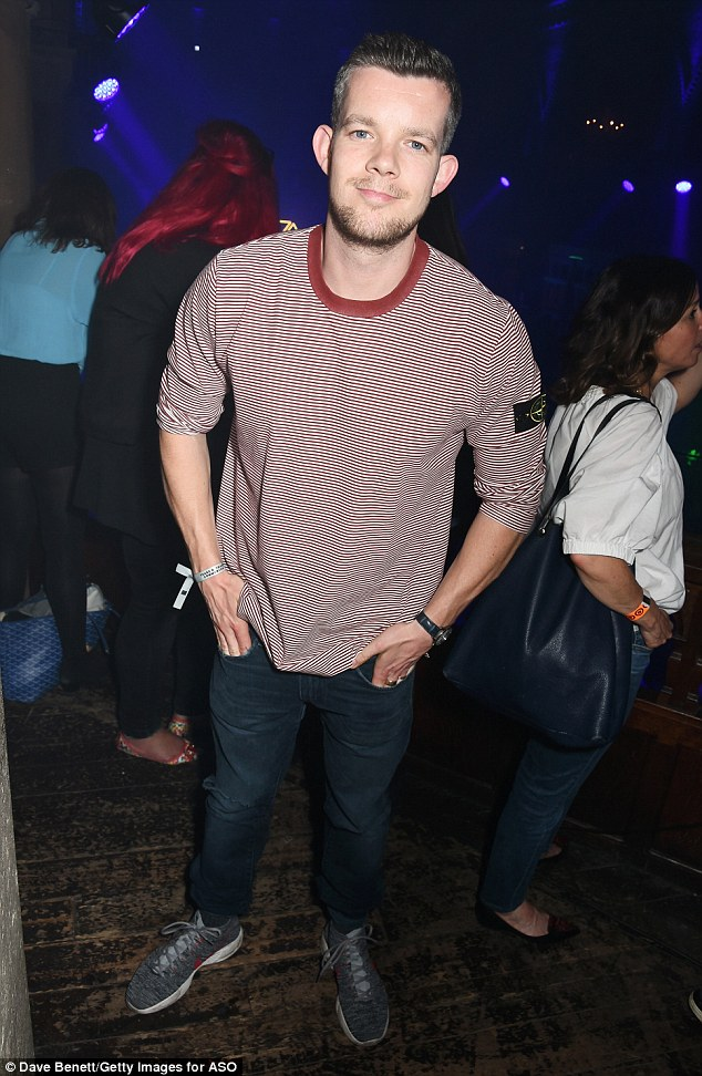 Joining in: TV actor Russell Tovey was also seen enjoying the festivities at London'sOne Mayfair