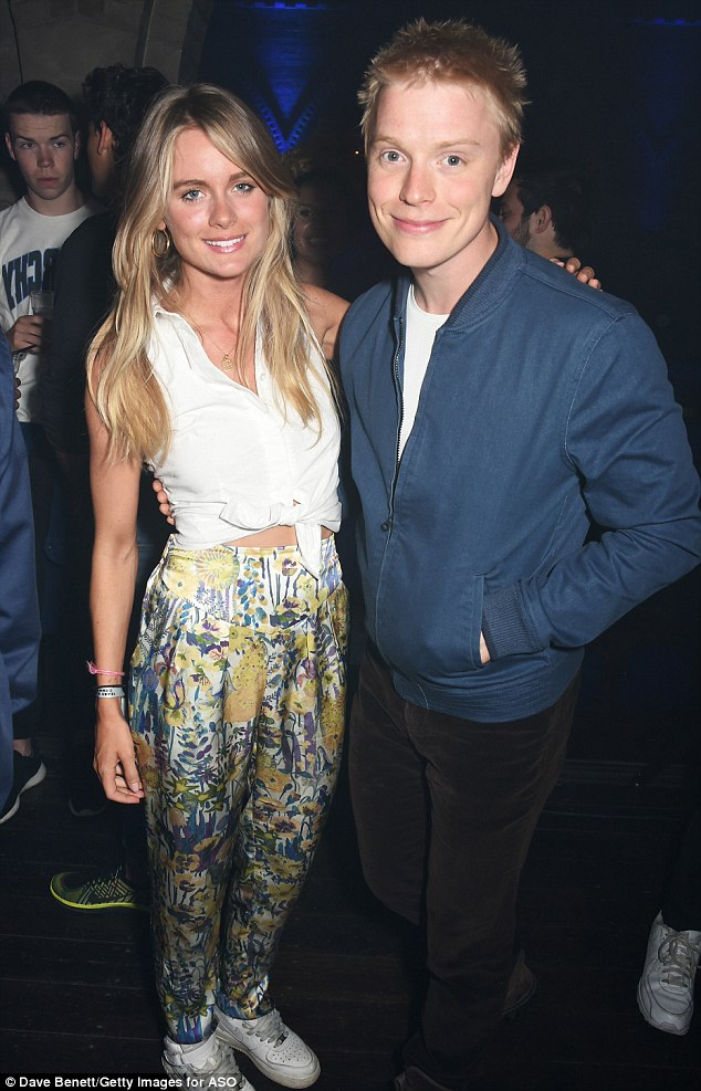 VIPs:The lovebirds rubbed shoulders with the likes of Prince Harry's ex-girlfriend Cressida Bonas and British actor Freddie Fox