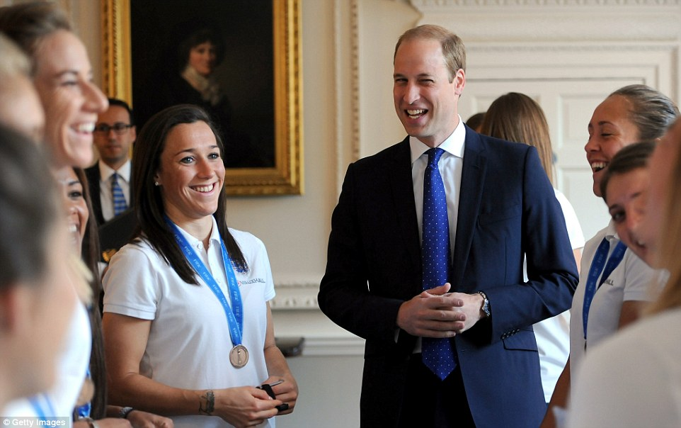 The father-of-two hosted a breakfast for the England Women's football team - who call themselves the Lionesses - at the royal household