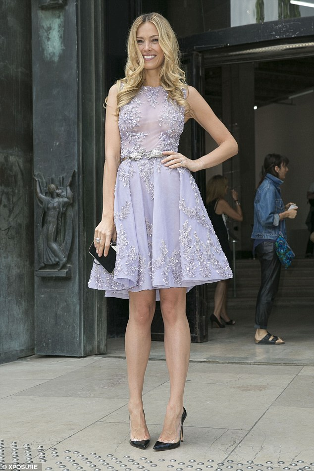 Style star: Petra Nemcova was seen making a glamorous appearance at the Zuhair Murad Haute Couture presentation, held at the grand Palais de Tokyo in Paris on Thursday