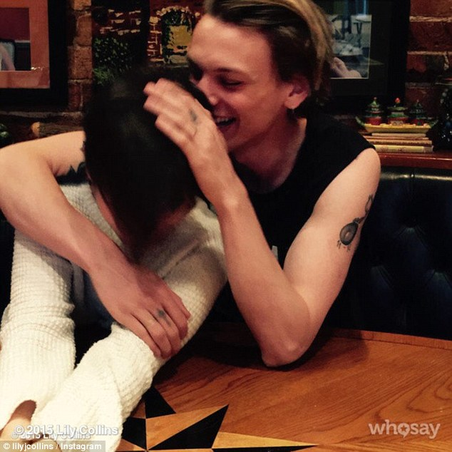 So close: The cute couple, who recently rekindled their romance, originally dated for a year before ending their relationship in 2013 while they were in the midst of a promotional tour for The Mortal Instruments: City Of Bones