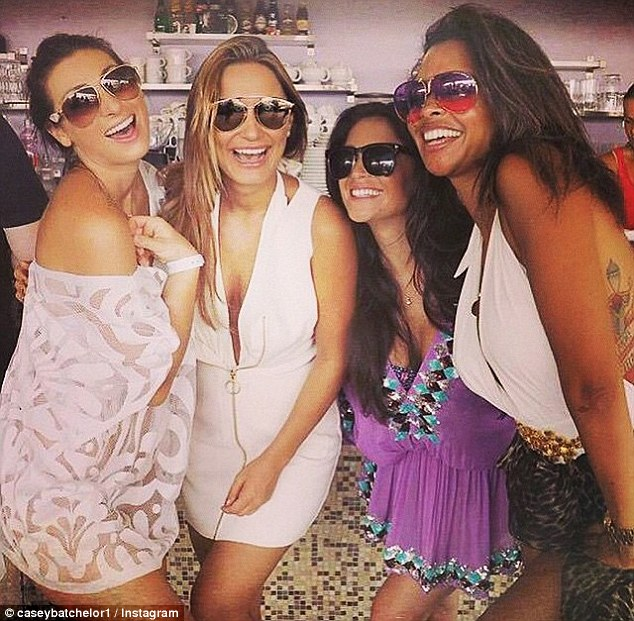 'Too much fun': Casey joined Luisa Zissman and Sam Faiers at the bride-to-be's 'secret wedding' in Cannes, France, this weekend
