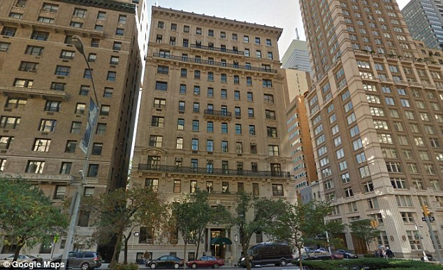 Lap of luxury: A former superintendentof 521 Park Avenue where Hudson has a duplex wrote in an affidavit thathe would often find the divorcee naked and in a state of drunken or drug-induced stupor