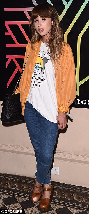 Star-studded: Singer Louisa Rose Allen, aka Foxes, also made a stylish appearance on the night