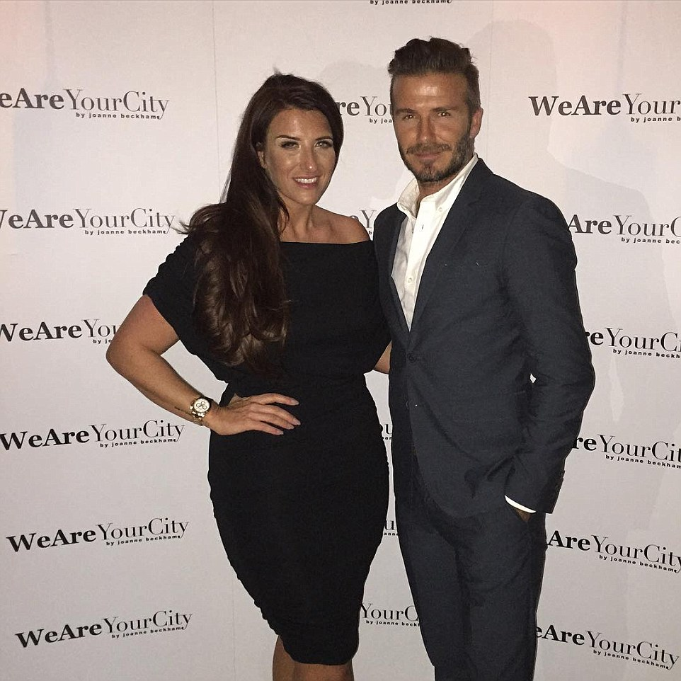 All about family:David also played the doting brother this week when he joined his sister Joanne at the launch of her new company We Are Your City on Wednesday evening