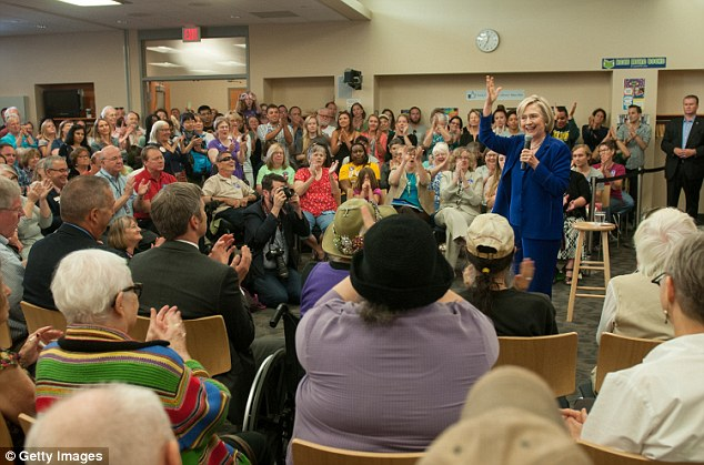 Clinton, who is pictured here on Tuesday in Iowa City, the same day as the CNN interview, denies that she did anything wrong. 'Everything I did was permitted,' she said