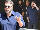 Ben Affleck makes an appearance at this year's Comic Con in San Diego. The Hollywood star noticeably conceals his lefthand and ring finger after divorce plans have been announced between him and wife Jennifer Garner. July 11, 2015 X17online.com