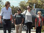 139942, EXCLUSIVE: Brad and Angelina takes kids Shiloh and Pax to a Toys R Us in Glendale. Los Angeles, California - Friday July 10, 2015. Photograph: Juan Sharma/Bruja, � PacificCoastNews. Los Angeles Office: +1 310.822.0419 sales@pacificcoastnews.com FEE MUST BE AGREED PRIOR TO USAGE
