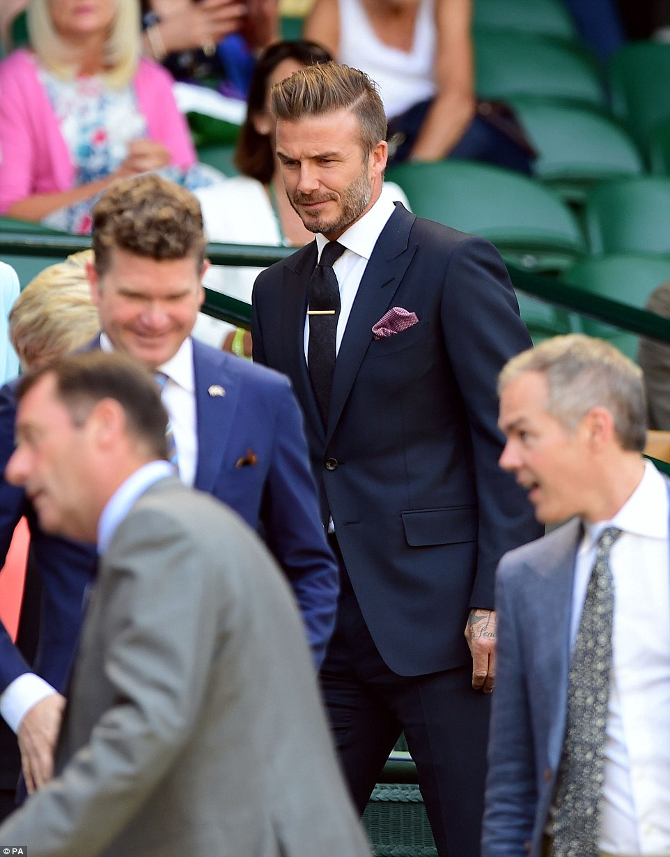 Tennis fans:The pair were joined in the royal box by a host of familiar faces including Pippa and James Middleton and Stephen Fry