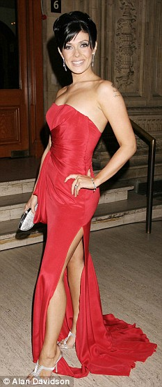 Glamorous: Kym Marsh was awarded the most popular newcomer award at last year's National Television Awards for her role in Coronation Street