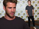 """Liam Hemsworth attends """"The Hunger Games: Mockingjay Part 2"""" press line on day 1 of Comic-Con International on Thursday, July 9, 2015, in San Diego, Calif. (Photo by Richard Shotwell/Invision/AP)"""