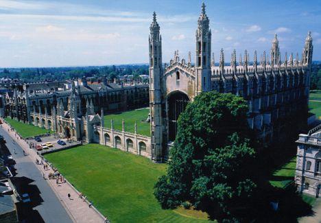 Makeover: King's College at Cambridge University, where dons are trying to update its image by planting story lines in soaps and other popular TV shows