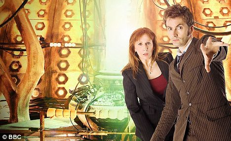 Approached: Catherine Tate and David Tennant in Doctor Who which dons also hope to persuade into giving Cambridge a mention